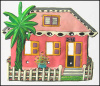 Painted Metal Light Switch Plate Cover - Tropical Caribbean House