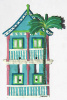 Painted Metal 2 Story Caribbean Gingerbread House Switchplate Cover