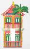 Painted Metal 2 Story Caribbean Gingerbread House Rocker Switchplate Cover
