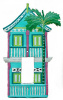 Painted Metal 2 Story Caribbean Gingerbread House Rocker Light Switch Cover