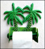 Toilet Paper Holder - Painted Metal Tropical Banana Tree Bathroom Decor