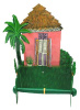 Toilet Paper Holder - Bathroom Decor - Painted Metal Caribbean House