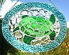 "Turtle Stained Glass Suncatcher - Nautical Sun Catcher Art -  8 1/2"" x 10 1/2"""