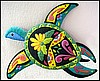 "Turtle Wall Hanging, Coastal Decor, Painted Metal Outdoor Decorating – Garden Decor - 16"" x 21"""